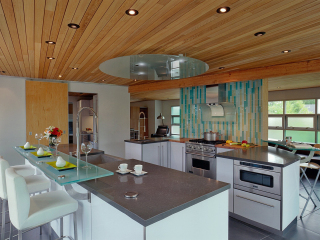Contemporary Kitchen with Butler's Pantry